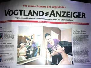 Fotoshooting 2012 im Greizer Friseuratelier von Kristin Haupt